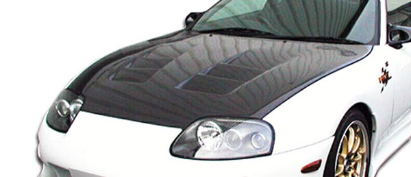 Carbon Creations 103690: 1993-1998 Toyota Supra Carbon Creations TS-1 Hood - 1 Piece