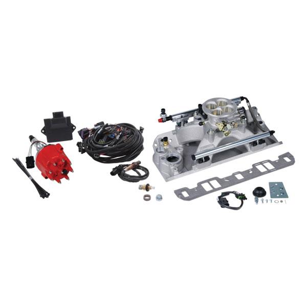 Edelbrock 356500 | Pro Flo 4 Fuel Injection Kit Seq Port 70-91 AMC 625 Max HP 35 LbHr Injectors Satin