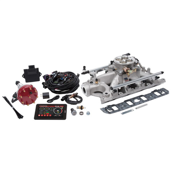 Edelbrock 35930   Pro Flo 4 Fuel Injection Kit Seq Port Ford 289-302 ci 550 HP 29 LbHr Injectors Satin