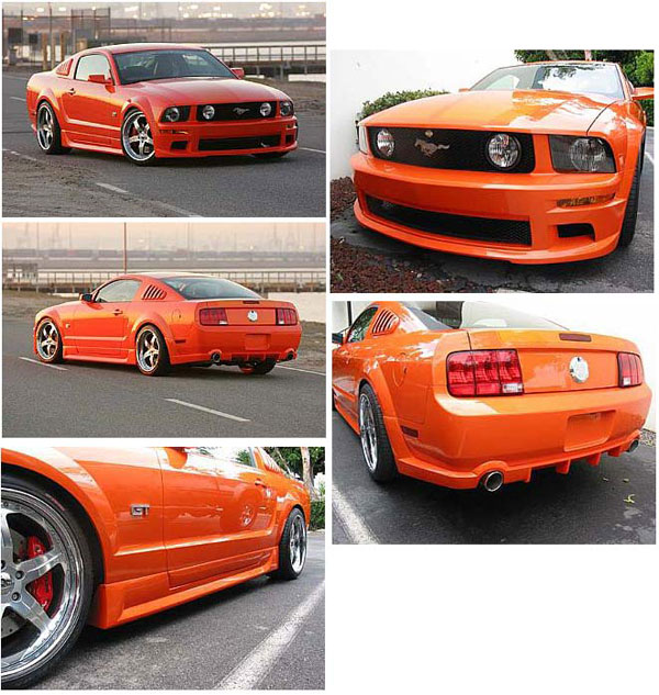Street Scene 95070747 |  Ground Effects Body Kit Mustang GT V8; 2005-2009