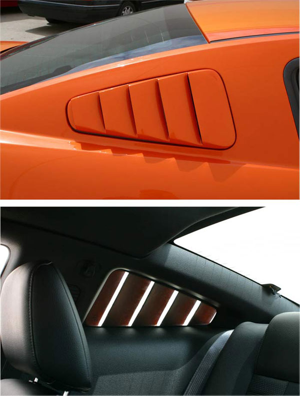 Street Scene 95070749:  Retro Style Louvers Mustang (pair) 2005-2009 V8