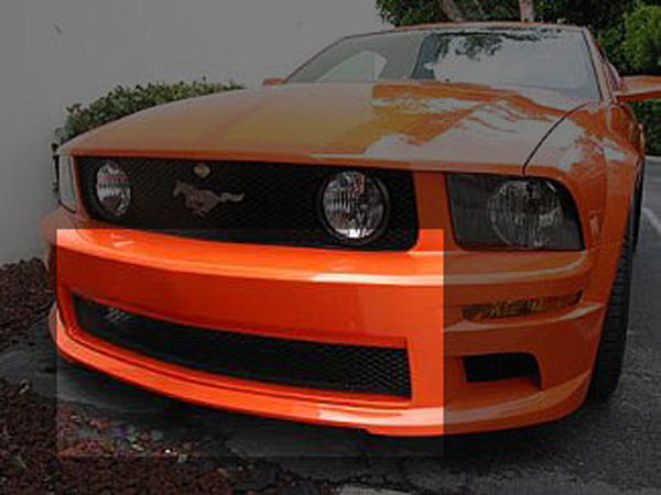 Street Scene 95074928:  Mustang GT Lower Grille for Gen 1 body kit - Black 2005-2009 V8