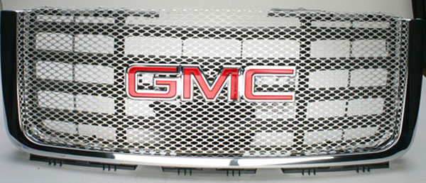 Street Scene (95078188)  GMC Sierra HD 2007 Main Grille - BLACK CHROME finish
