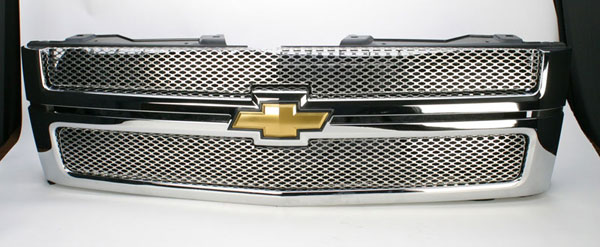Street Scene 95079184:  Silverado 2007 Main Grille - Polishd Stainless Steel finish