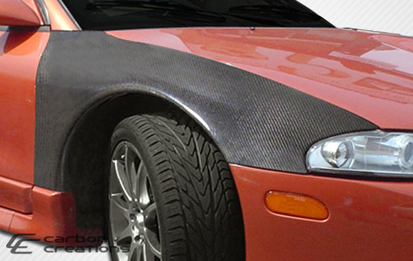Carbon Creations 105584 | Mitsubishi Eclipse Eagle Talon Carbon Creations OEM Fenders 2-Piece; 1995-1999