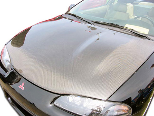 Carbon Creations 101579 | Mitsubishi Eclipse Eagle Talon Carbon Creations OEM Hood 1-Piece; 1995-1999