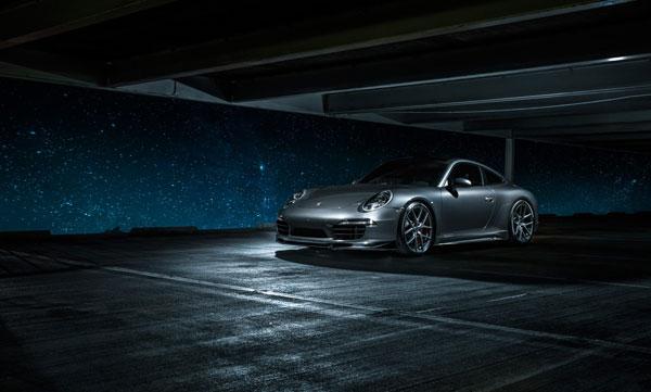 Vorsteiner 9600POV |  Porsche 991 Carrera Narrow Body V-GT Aero Front Spoiler w/ Center Splitter Carbon Fiber PP 1x1 Glossy; 2012-2016