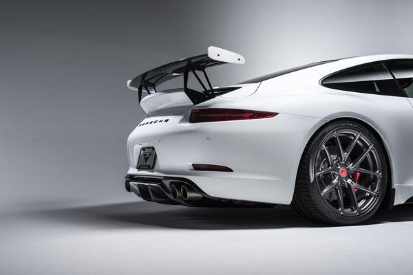 Vorsteiner 9606POV |  Porsche 991 Carrera Narrow Body V-GT Aero Wing Blade w/ Aluminum Uprights and DVWP Decklid Carbon Fiber PP 1x1 Glossy; 2012-2016