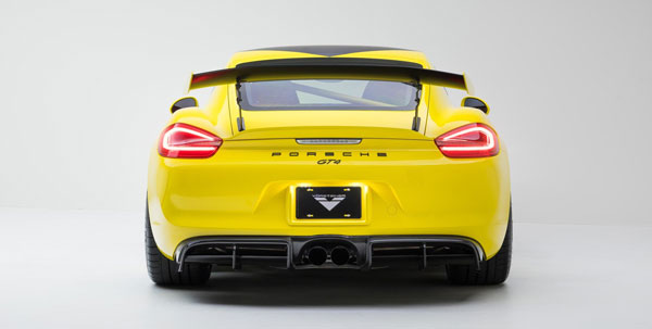 Vorsteiner 9701POV |  Porsche 981 Cayman GT4 V-CS Aero Rear Diffusers Carbon Fiber 1x1 Glossy; 2016-2017