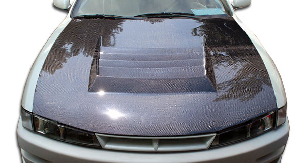 Carbon Creations 104241: 1997-1998 Nissan 240SX Carbon Creations D-1 Hood - 1 Piece