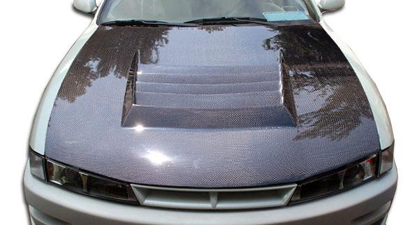 Carbon Creations 104241 | Nissan 240SX Carbon Creations D-1 Hood 1-Piece; 1997-1998