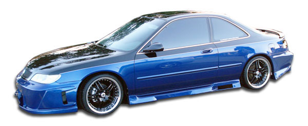 Duraflex 101448 | Honda Accord Acura CL 2DR Duraflex Spyder Side Skirts Rocker Panels 2-Piece; 1994-1997