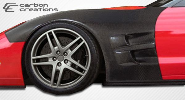 Carbon Creations 105704 | Chevrolet Corvette C5 Carbon Creations ZR Edition Fenders 2-Piece; 1997-2004