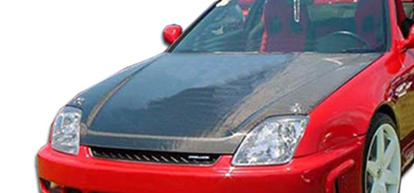 Carbon Creations 101908 | Honda Prelude Carbon Creations OEM Hood 1-Piece; 1997-2001