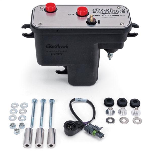 Edelbrock 36032 | Fuel System Universal Fuel Sump Module Adjustable Fuel Sump Tank Only 255 LPH