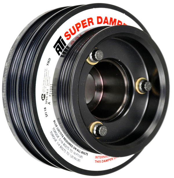 ATI ati918598 | Damper - 5.67in - Alum - (2) 4 Grv - Nissan RB26 - R33 34 - 1Pc - w/Power Steering Pulley