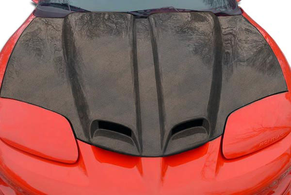 Carbon Creations 103622: 1998-2002 Pontiac Firebird Trans AM  WS-6 Hood - 1 Piece
