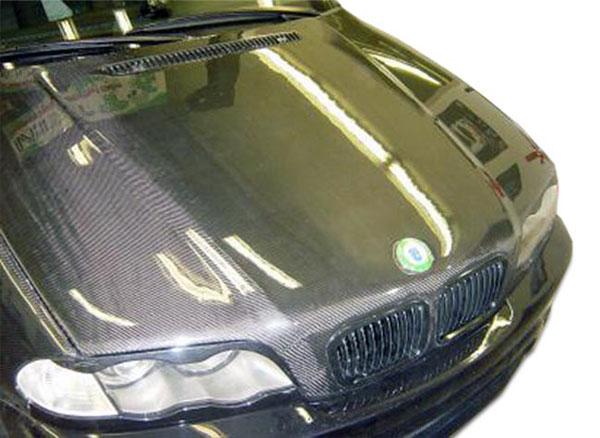Carbon Creations 102590 | BMW 3 Series E46 4DR Carbon Creations OEM Hood 1-Piece; 1999-2001