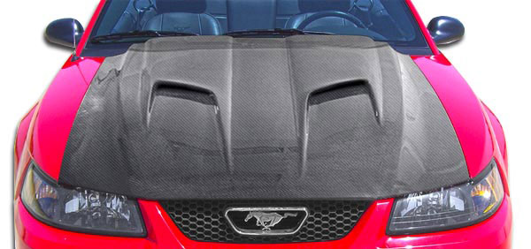 Carbon Creations 106388 | Ford Mustang Carbon Creations Mach 2 Hood 1-Piece; 1999-2004