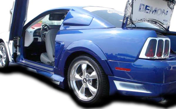 Couture 104787 | Ford Mustang Couture Demon Rear Fender Flares 2-Piece; 1999-2004