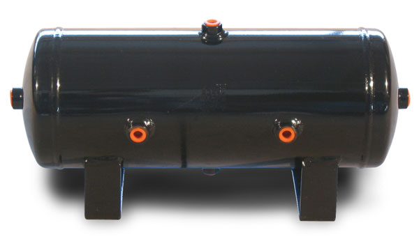 Air Lift 10980 | 2 Gal Air Tank- 6in X 17in With (6) 1/4in Ports