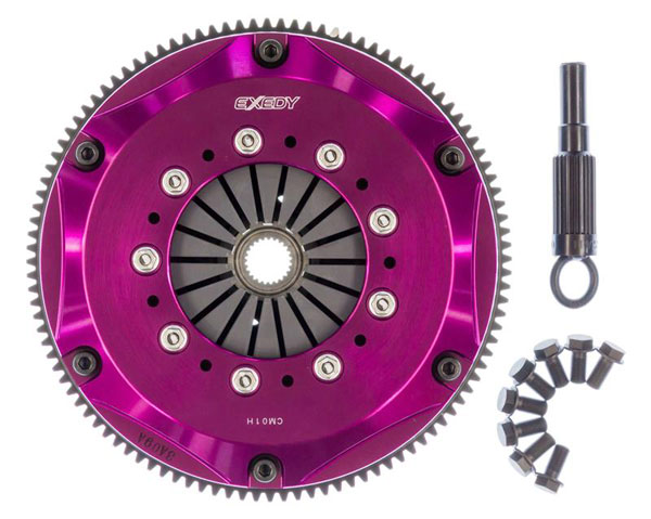 Exedy Racing NM013HB | Exedy Hyper Triple Cerametallic Clutch Kit NISSAN 240SX ALL ALL; w/ SR20DET Swap; Rigid Disc; Pull Type; 1995-1998