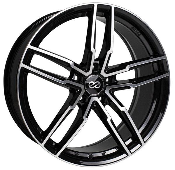 Enkei 511-775-8045bkm | SS05 17x7.5 5x100 45mm Offset 72.6mm Bore Black Machined Wheel