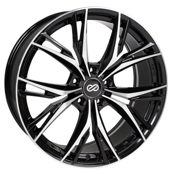 Enkei 505-775-8045bkm | ONX 17x7.5 45mm Offset 5x100 Bolt Pattern 72.6 Bore Dia Black Machined Wheel