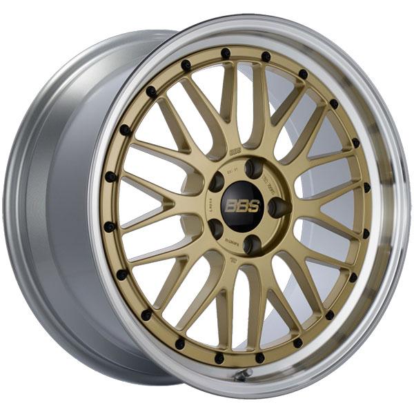 BBS LM250GPK | LM 19x9 5x112 ET42 Gold Center Diamond Cut Lip Wheel -82mm PFS/Clip Required