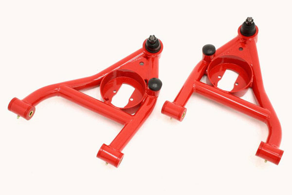 BMR Suspension (AA009) BMR A-arms Lower Non-adjustable Polyurethane Bushings, Rear Bump Stops 1967-1969 Camaro, Firebird