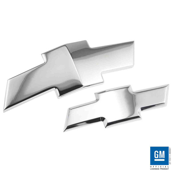 American Brother Designs ABD-1001C: ABD 2011 + Chevy Cruze Billet Bowtie Replacement Inserts - Chrome (2 piece set)