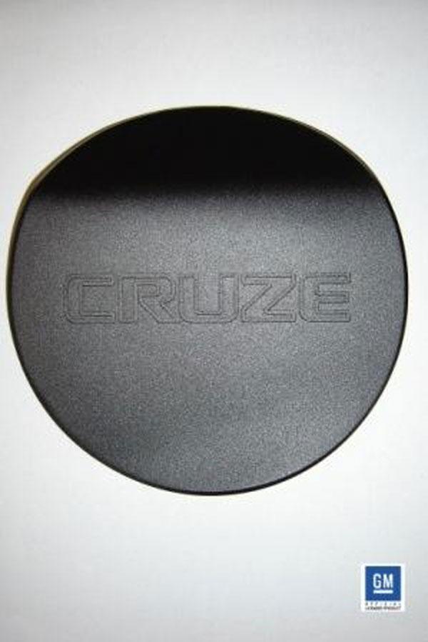 American Brother Designs ABD-1006B |  ABD Chevrolet Cruze Billet Non Locking Fuel Door - Black; 2011-2012
