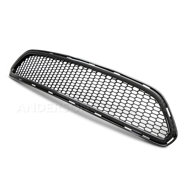 Anderson Composites AC-FG15FDMU-AE:  MUSTANG CARBON FIBER FRONT UPPER GRILLE TYPE-AE, 2015+
