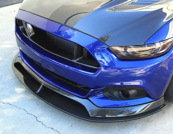 Anderson Composites AC-FL15FDMU-AR: MUSTANG CARBON FIBER FRONT CHIN SPLITTER TYPE-AR, 2015-2016