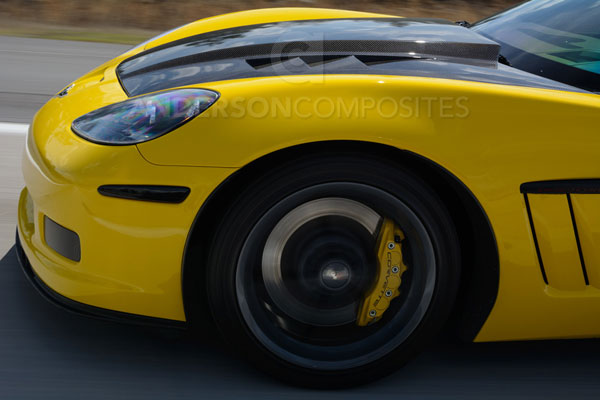 Anderson Composites AC-HD05CHC6-TS |  Corvette C6 Carbon Fiber Hood Type-Ts; 2005-2013