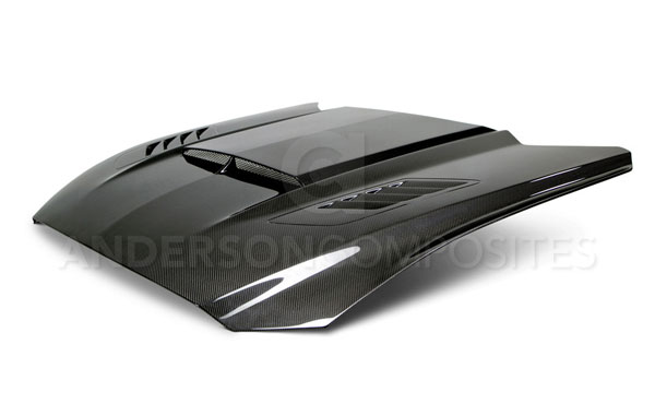 Anderson Composites AC-HD15FDMU-AB-DS |  Mustang Carbon Fiber Hood Ram Air Double Sideded; 2015-2017