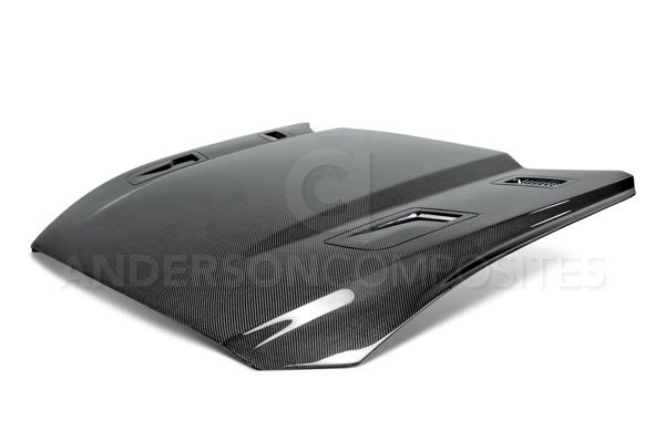 Anderson Composites AC-HD15FDMU-AT |  Mustang Carbon Fiber Hood Type-At, 2015+