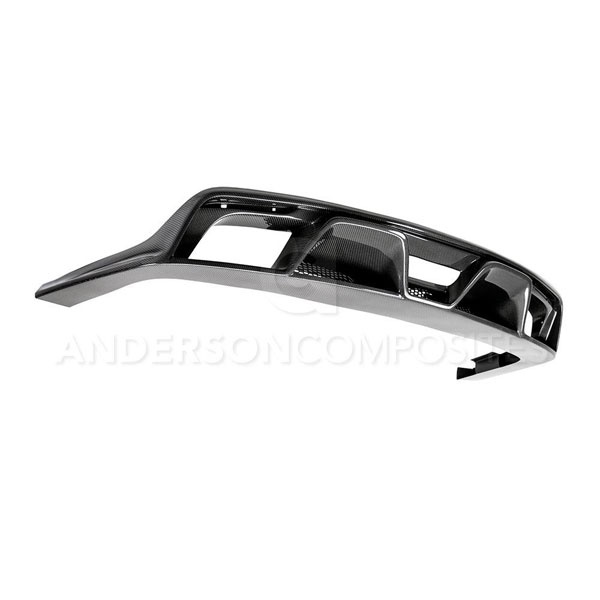 Anderson Composites AC-RL15FDMU-GR |  Mustang Carbon Fiber Rear Diffuser GT350; 2015-2017
