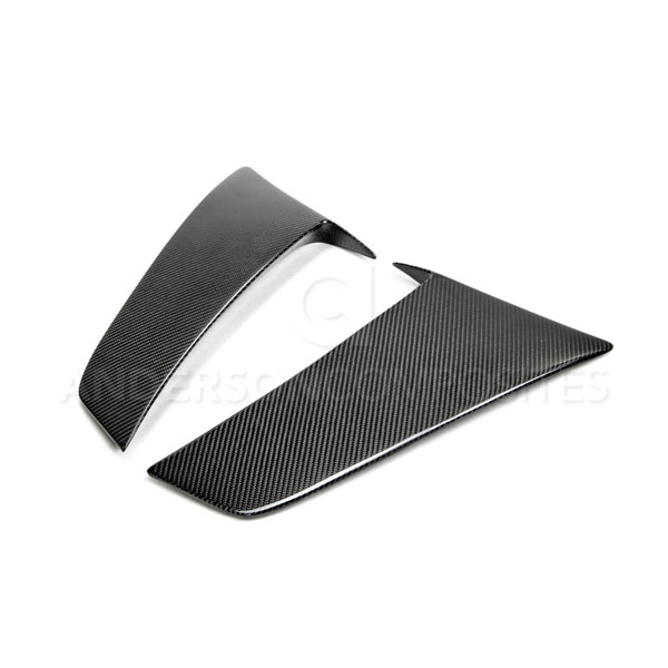 Anderson Composites (AC-SC15FDMU)  Mustang Carbon Fiber Side Scoops (Pair), 2015+