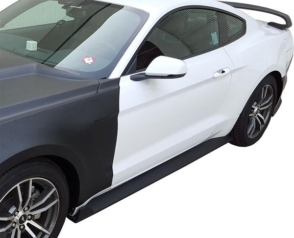 Anderson Composites AC-SS15FDMU-GR-GF |  Mustang Rocker Panel Splitter Fiberglass Gt350 Style, 2015+