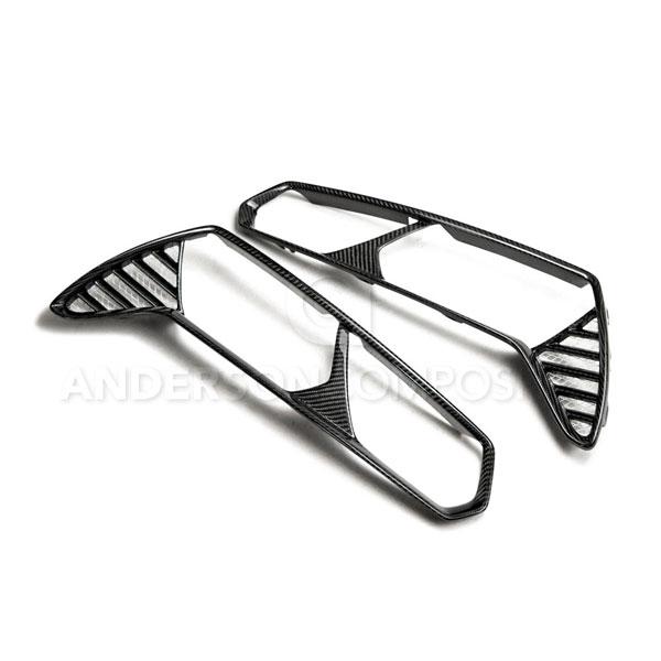 Anderson Composites AC-TLB14CHC7 |  Corvette C7 Stingray / Z06 Carbon Fiber Taillight Bezels; 2014-2016