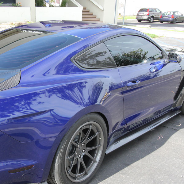 Anderson Composites AC-WL15FDMU-F | Mustang Carbon Fiber Window Louvers - Flat; 2015-2018