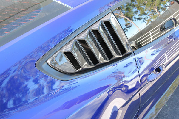 Anderson Composites AC-WL15FDMU-V |  Mustang Carbon Fiber Window Louvers - Vented, 2015+