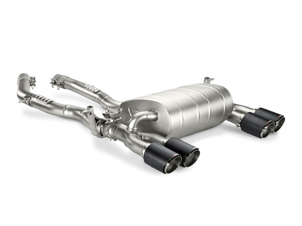 Akrapovic M-BM/T/8H-C |  BMW M4 (F82, F83) Slip-On Line (Titanium) w/ Carbon Tips; 2014-2017