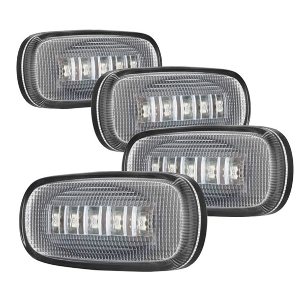xTune ACC-LED-DR03-FL-C:  Dodge Ram 03-09 (2 RD/2 AM) LED Fender Lights 4pcs - Clear