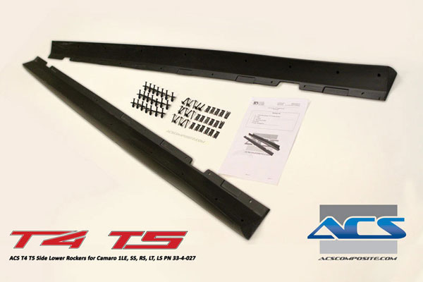 ACS 33-4-027:  T4 / T5 Side Rockers For Camaro SS RS LS LT