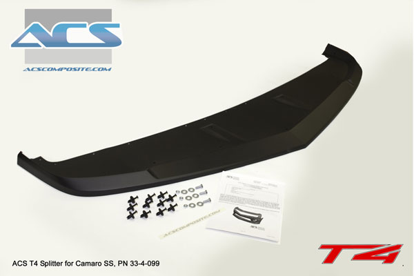ACS 33-4-099:  Camaro T4 Splitter (For Camaro SS Only, V8)