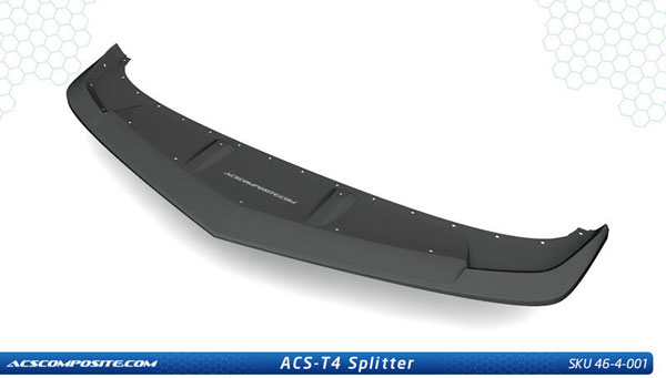 ACS 46-4-001:  Camaro T4 Splitter (For 2014 Camaro SS Only, V8)