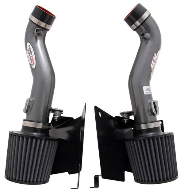 AEM 21-677C |  Cold Air Intake System NISSAN 350Z DUAL INLET WITH H / S - Silver Gray; 2007-2008