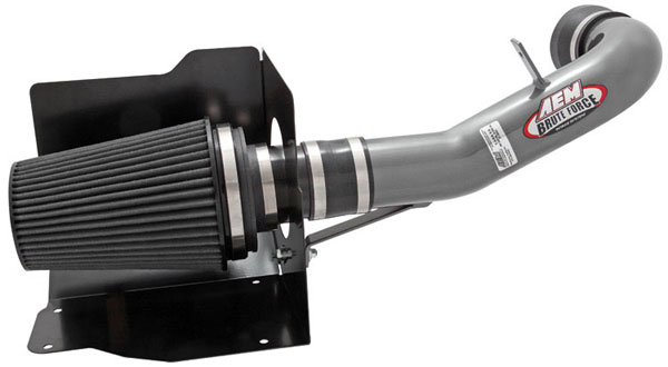 AEM 21-8023DC |  Brute Force Intake System TAHOE, Avalanche, Excalade, Silverado, Sierra (all), Suburban, Yukon (all) 4.8L 5.3L 6.0L 6.2L - Silver Gray; 2007-2008